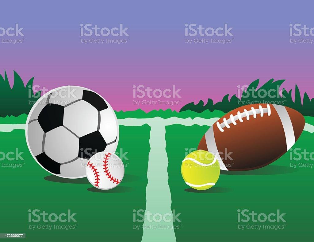 Outdoor Sports vector art illustration
