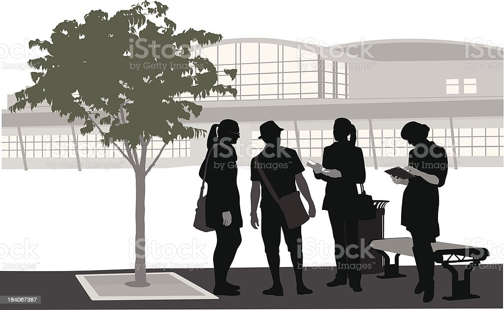 Outdoors At College royalty-free stock vector art