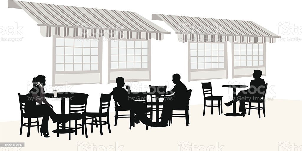 Outdoors Coffee Vector Silhouette vector art illustration