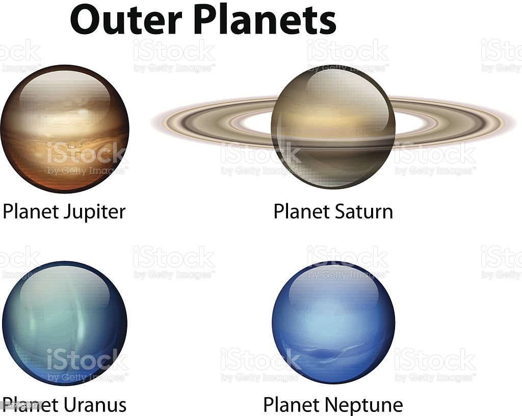 Outer Planets royalty-free stock vector art