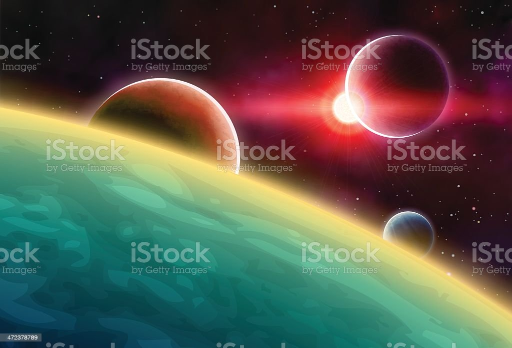 Outer Space royalty-free stock vector art