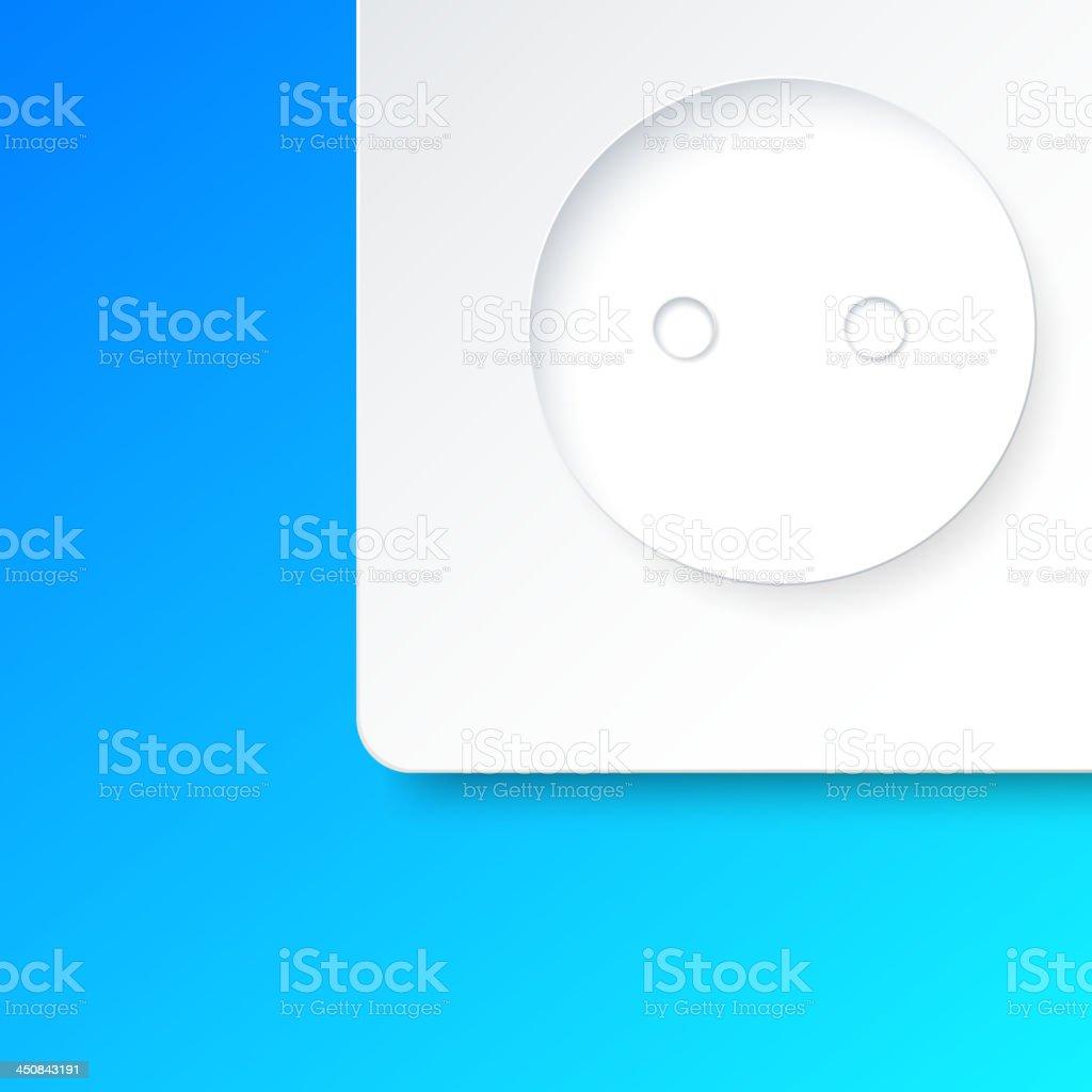 Outlet closeup royalty-free stock vector art