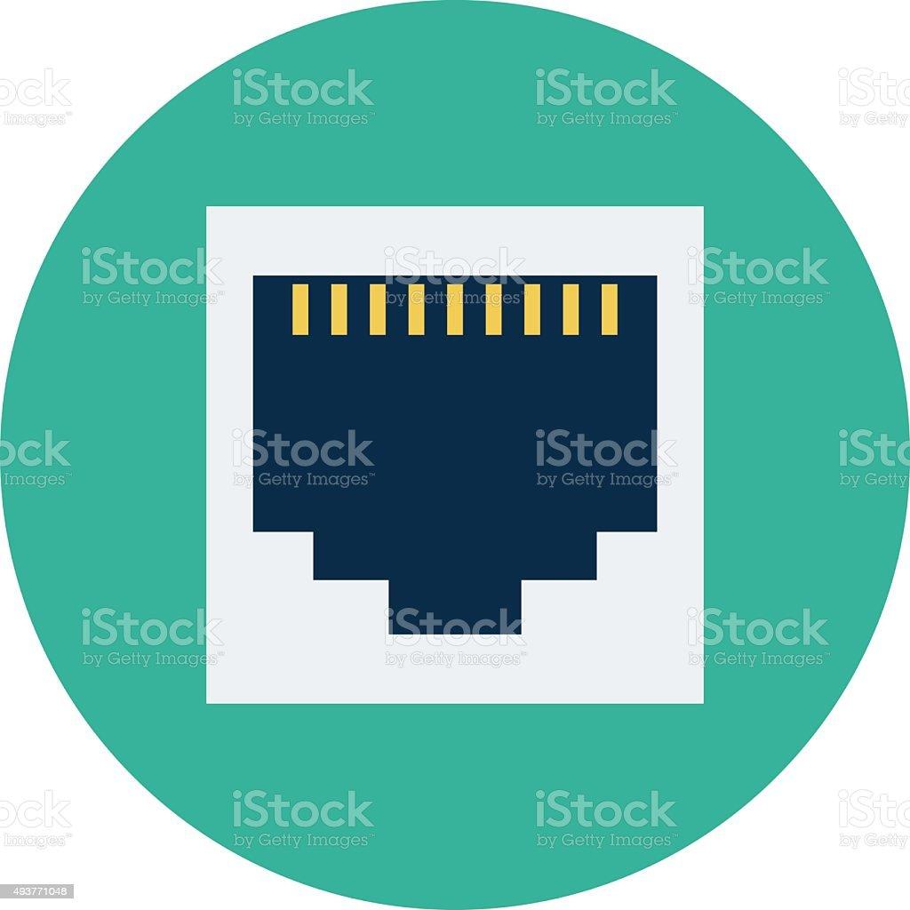 Outlet Colored Vector Illustration vector art illustration