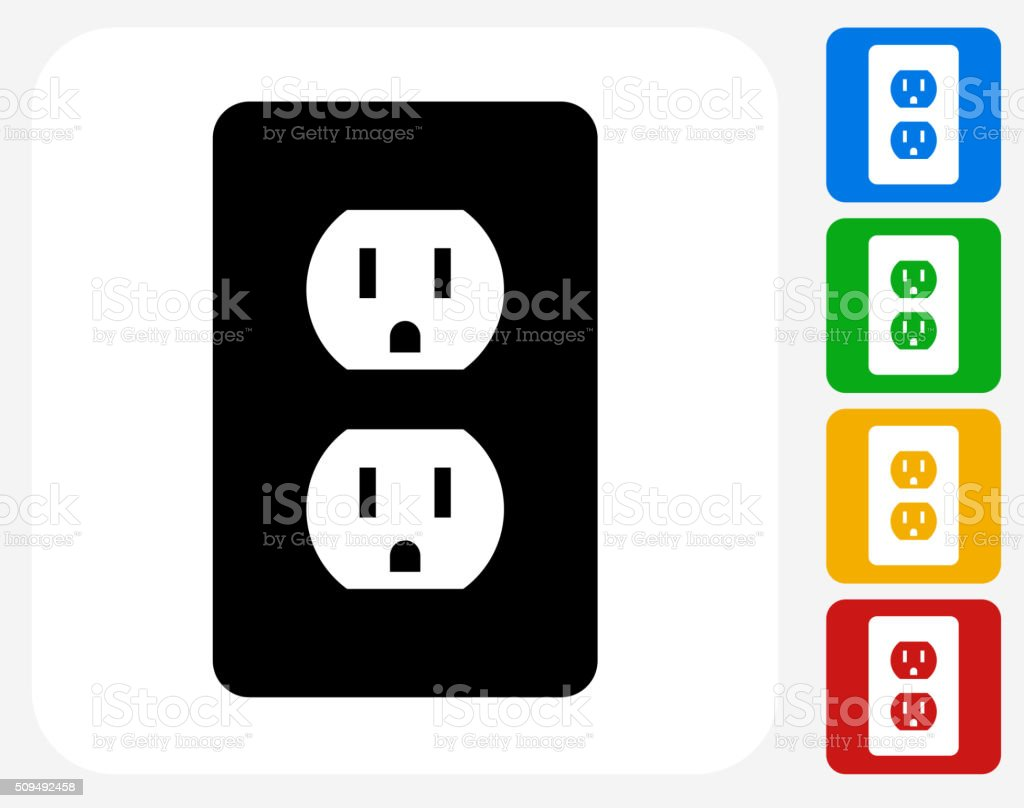 Outlet Icon Flat Graphic Design vector art illustration