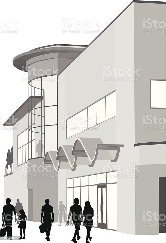 Outlet Shoppers Vector Silhouette vector art illustration