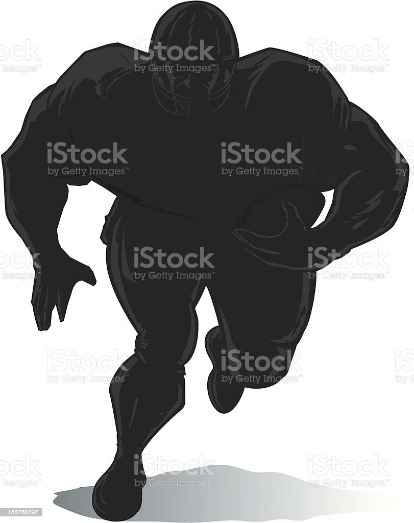 Outline Football player royalty-free stock vector art