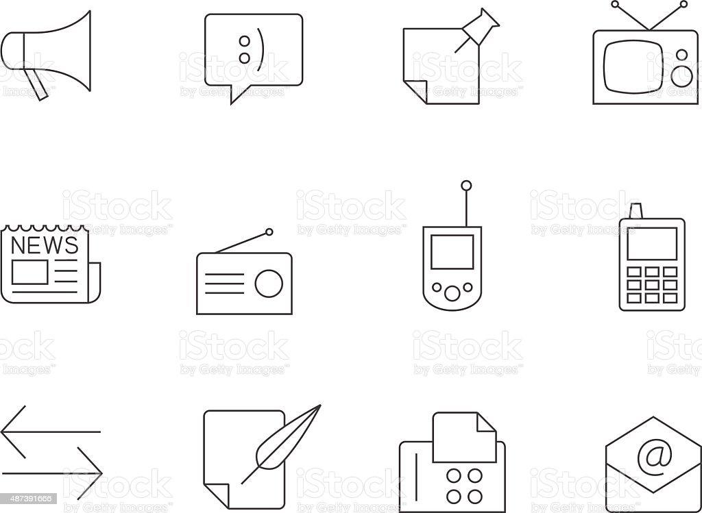 Outline Icons - More Communication vector art illustration
