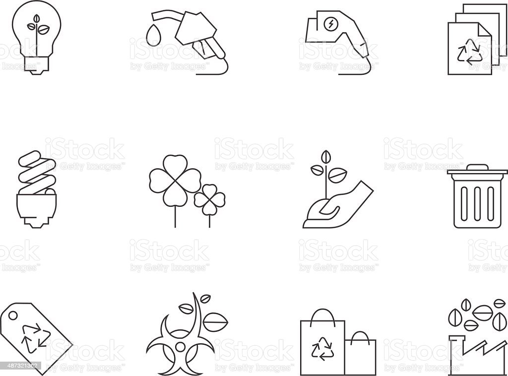 Outline Icons - More Environment vector art illustration