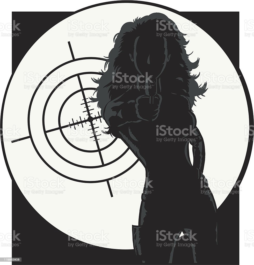 Outline of a secret agent royalty-free stock vector art