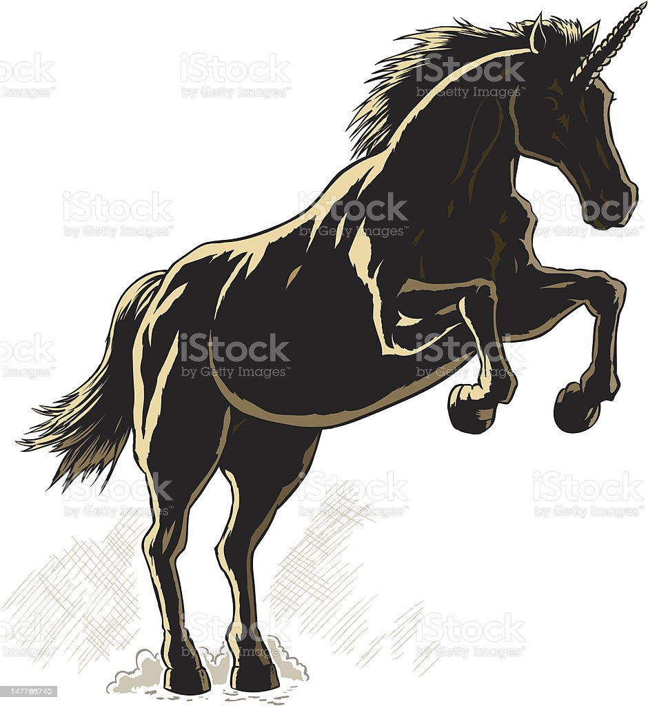 Outline of a Unicorn. royalty-free stock vector art