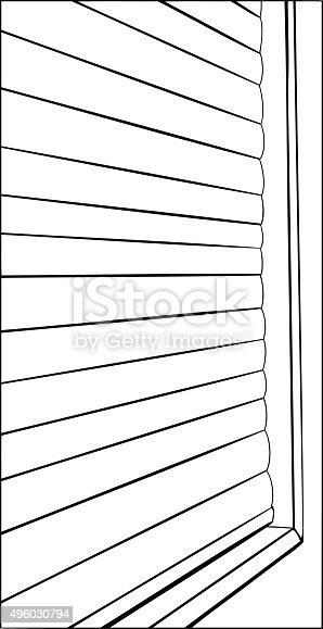 Fenster geschlossen clipart  Kontur Des Fenster Jalousien Geschlossen Vektor Illustration ...