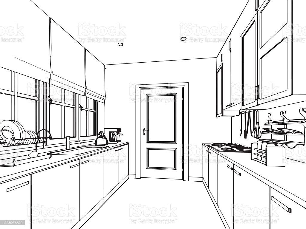 perspektive zeichnung. Black Bedroom Furniture Sets. Home Design Ideas