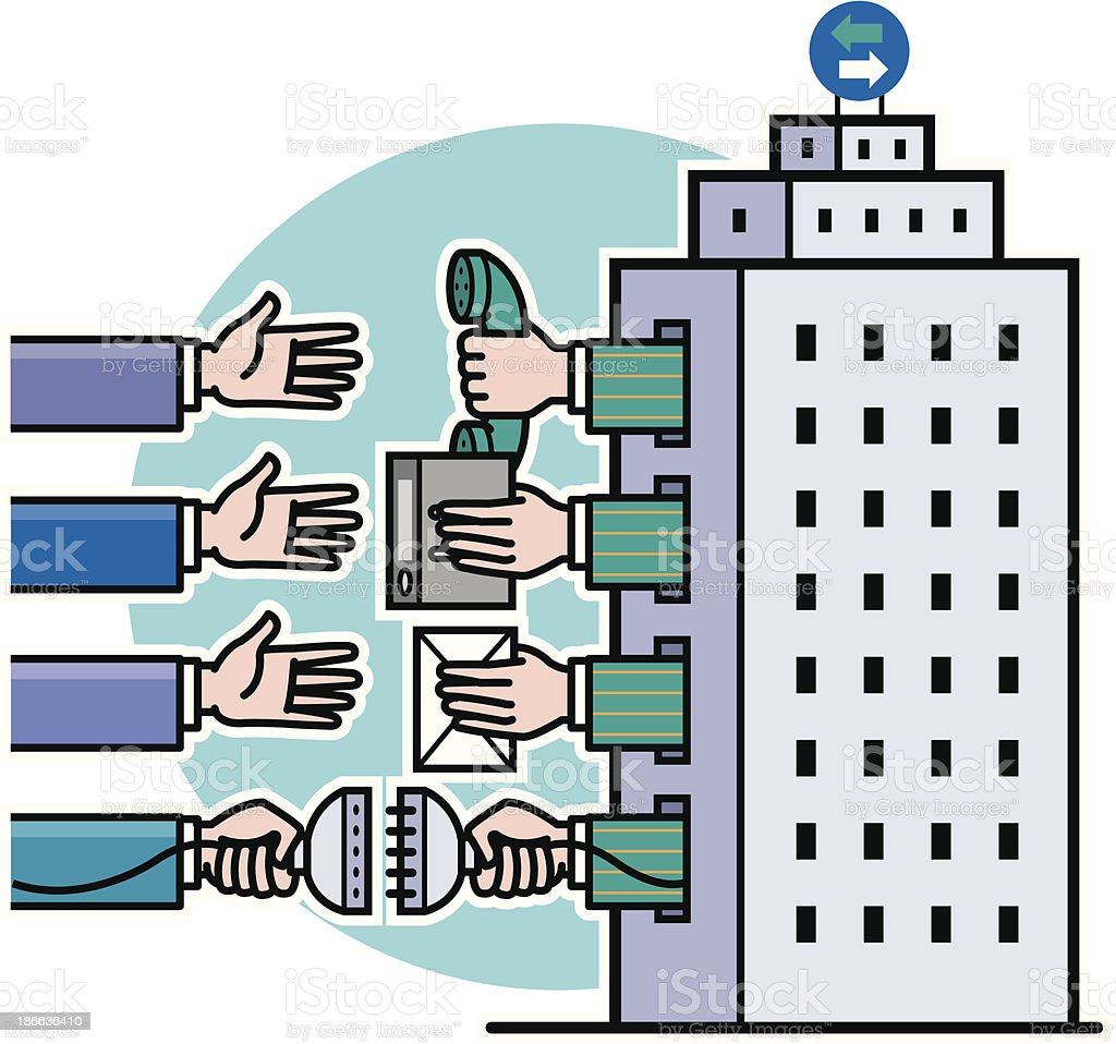 outsourcing vector art illustration