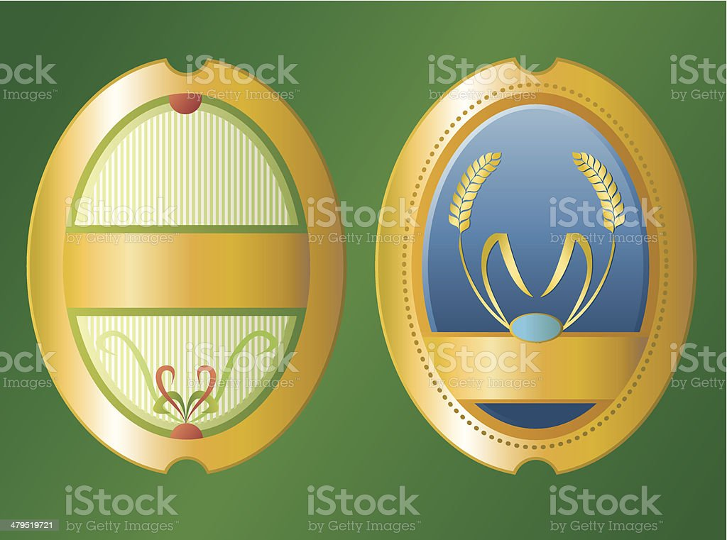 Oval  beer labels royalty-free stock vector art