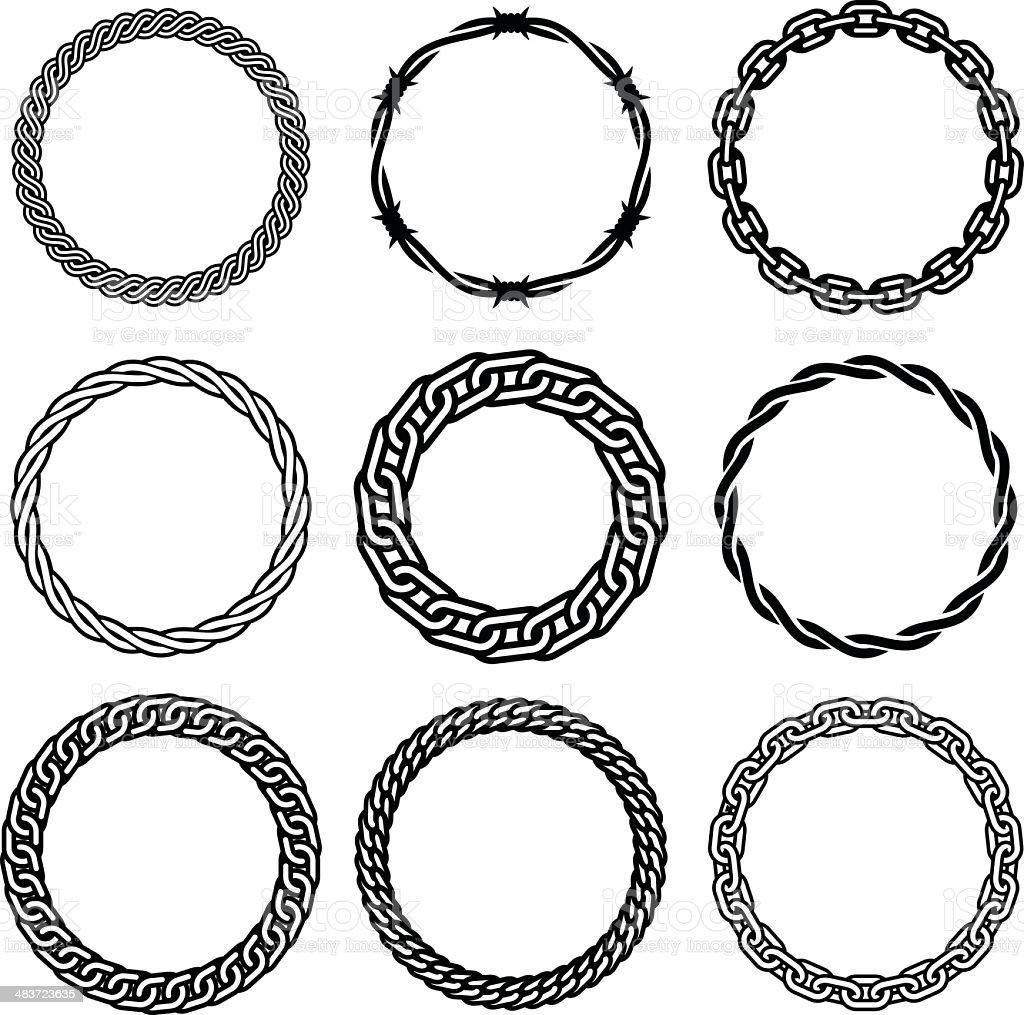 Oval Design Elements - Four vector art illustration