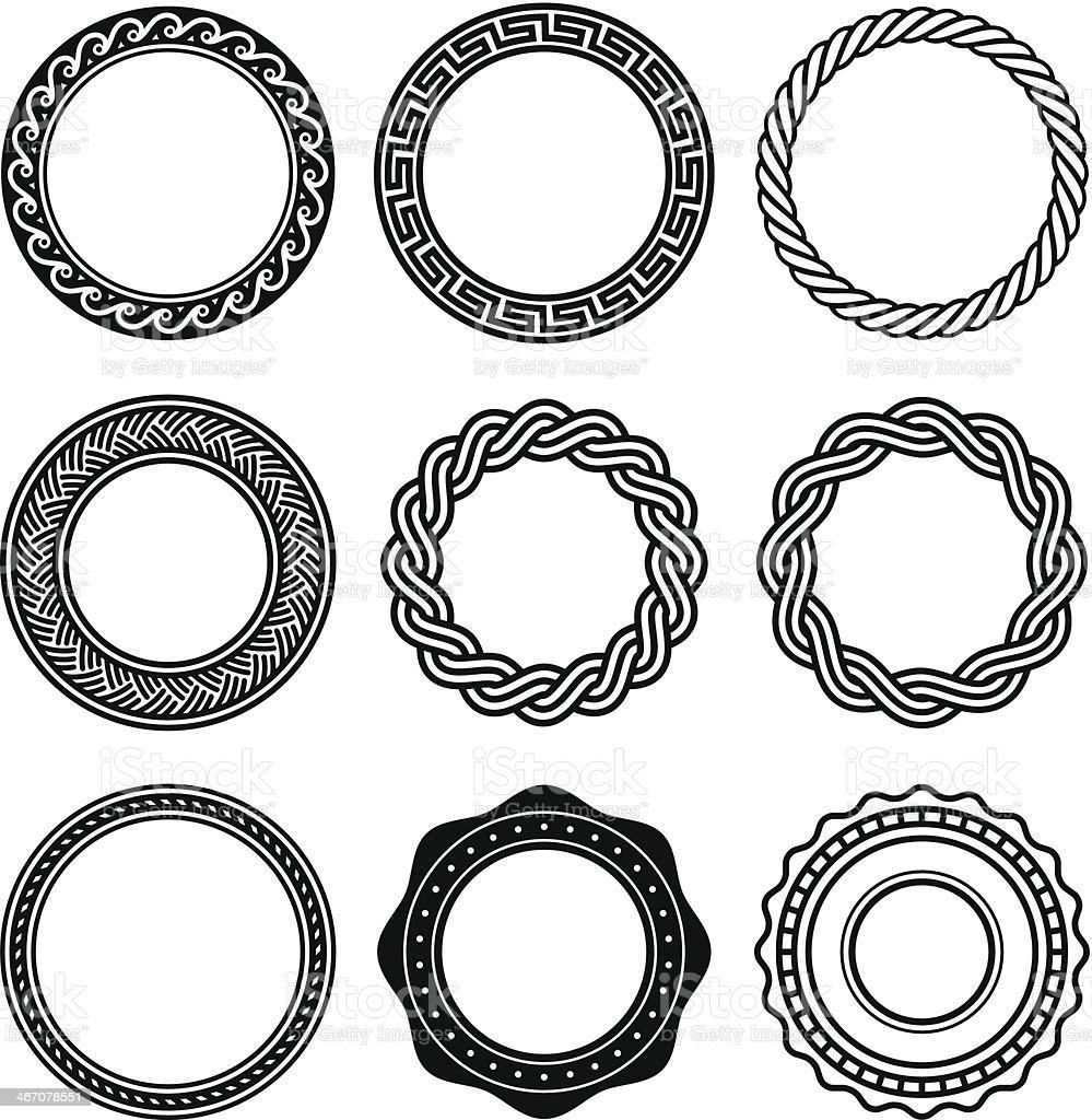 Oval Design Elements - Three vector art illustration