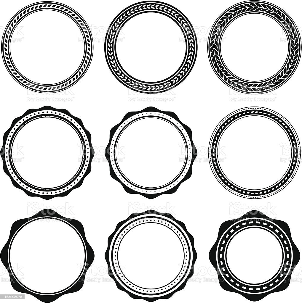 Oval Design Elements royalty-free stock vector art