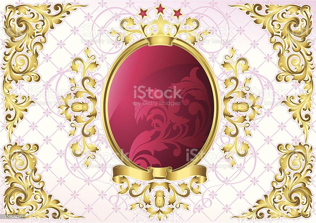 Oval emblem royalty-free stock vector art