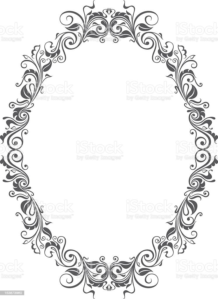 Oval Frame vector art illustration