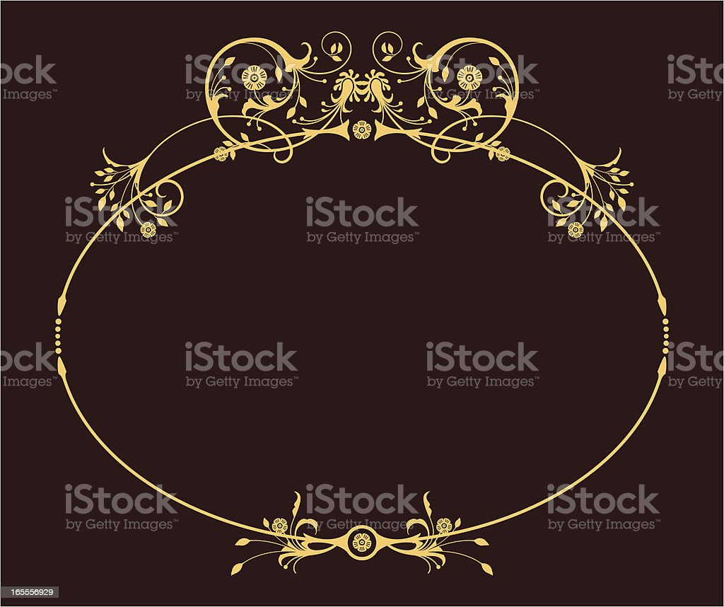 Oval Frame royalty-free stock vector art