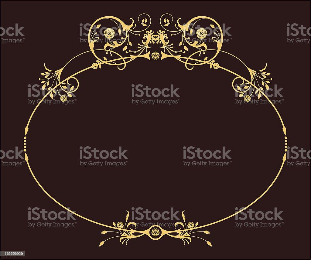 Oval Frame vector art illustration