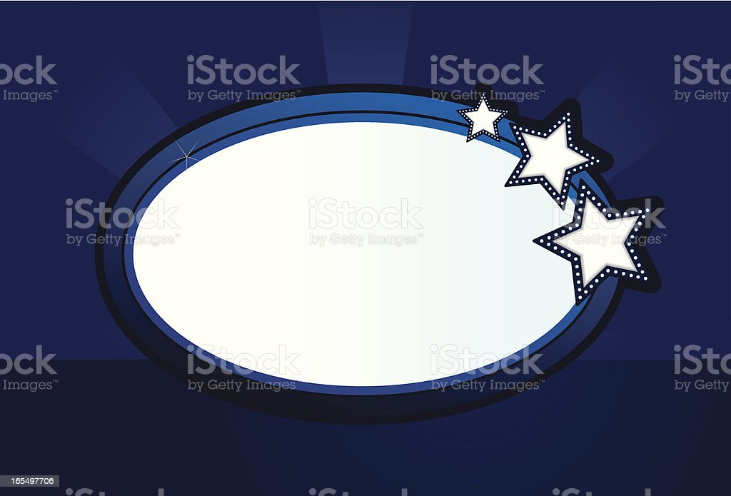 Oval Glowing Sign royalty-free stock vector art