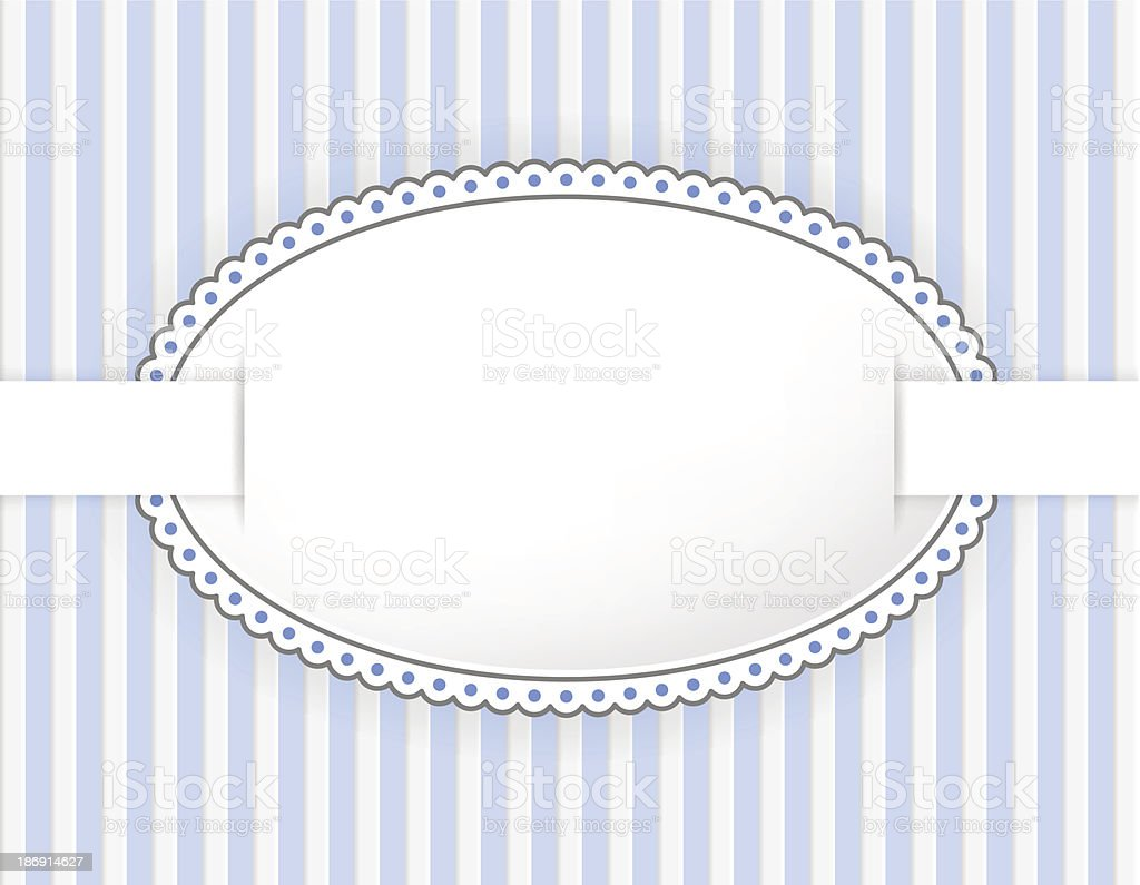 Oval label with dotted frame royalty-free stock vector art