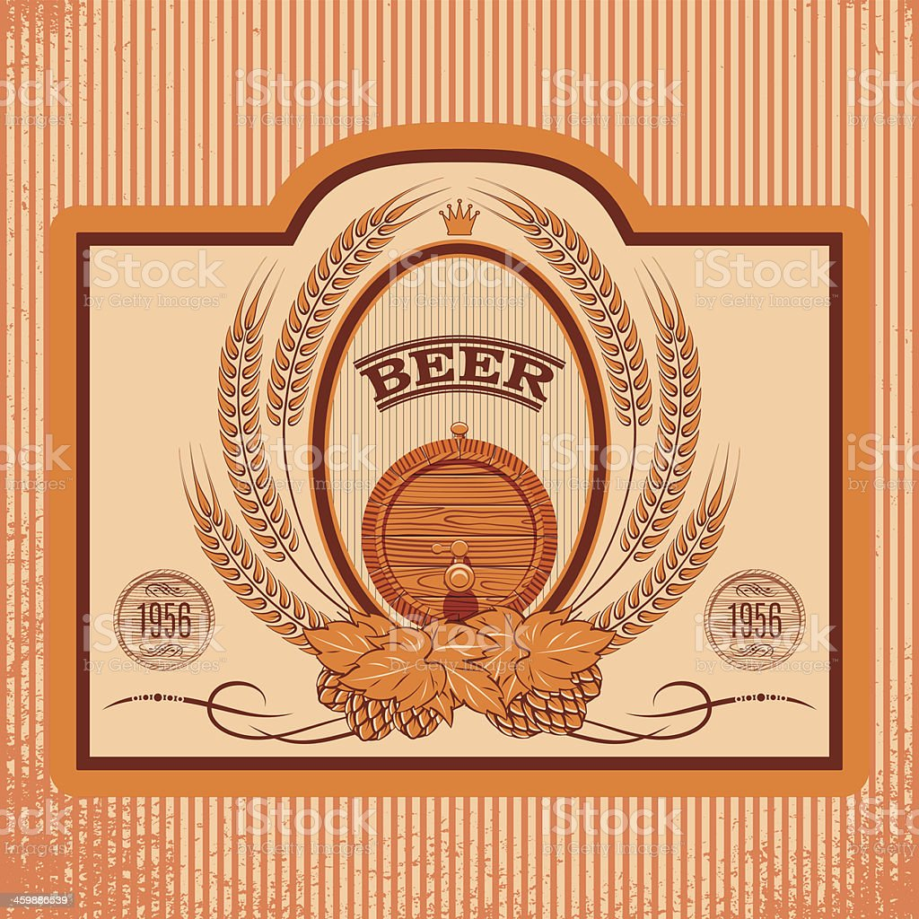 oval labels for beer royalty-free stock vector art