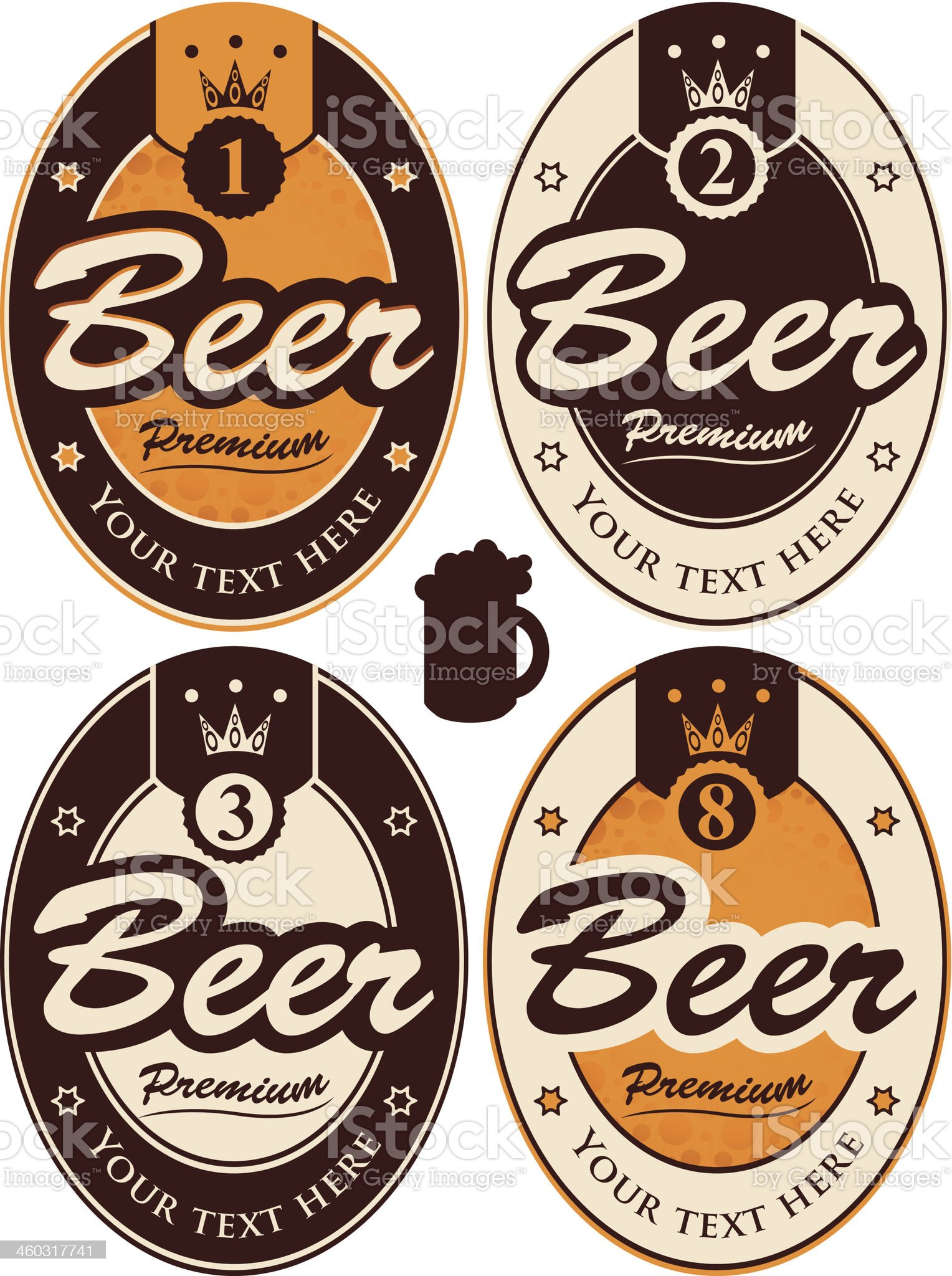oval labels royalty-free stock vector art