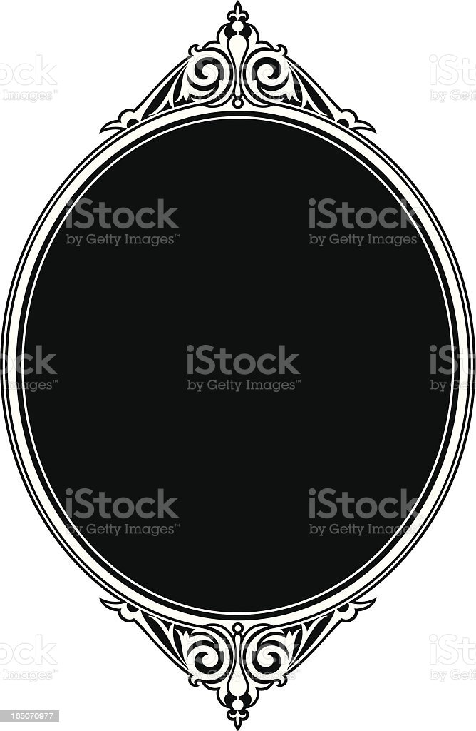 Oval Panel Scroll design royalty-free stock vector art