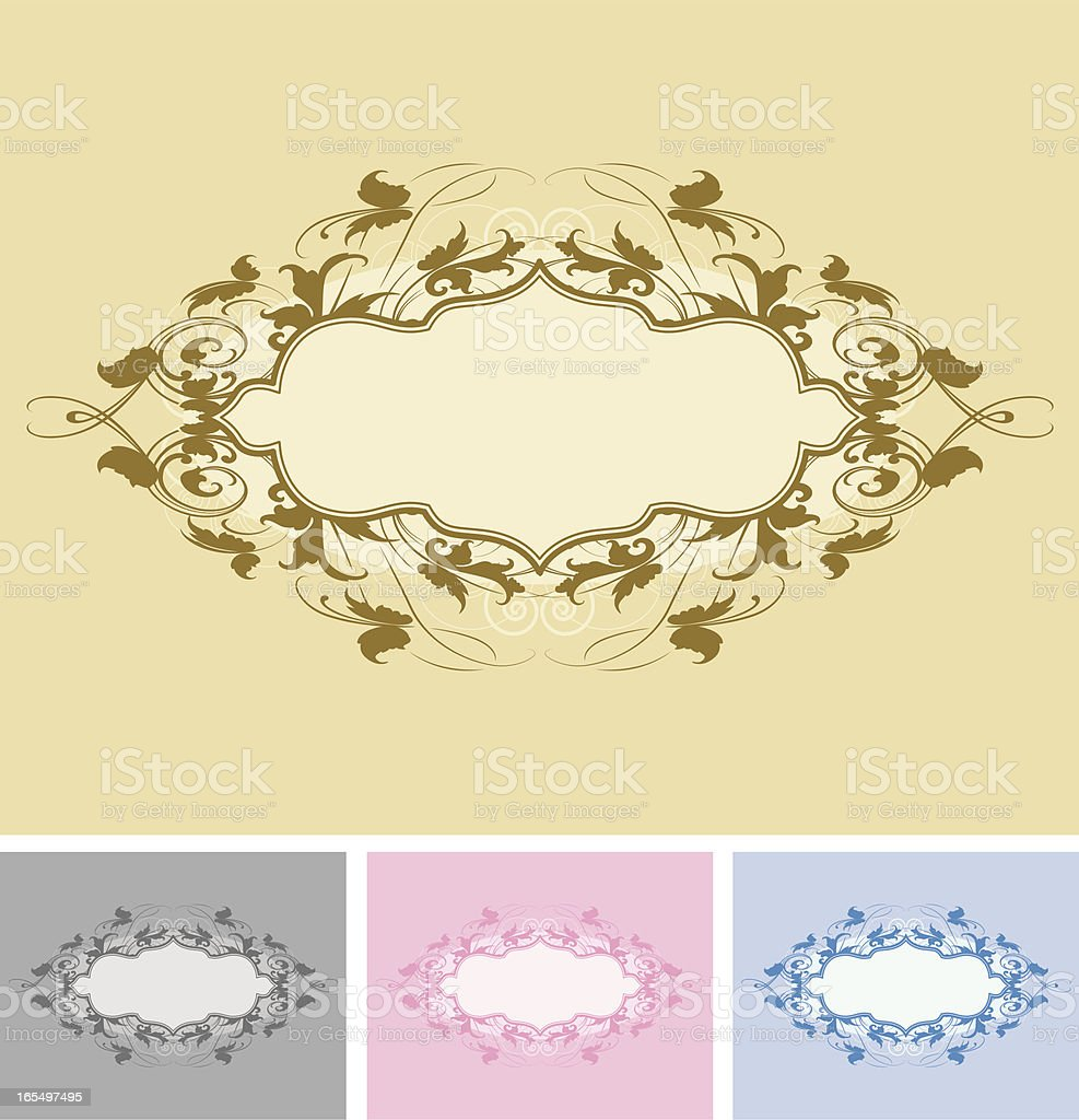 Oval Scroll Banner vector art illustration