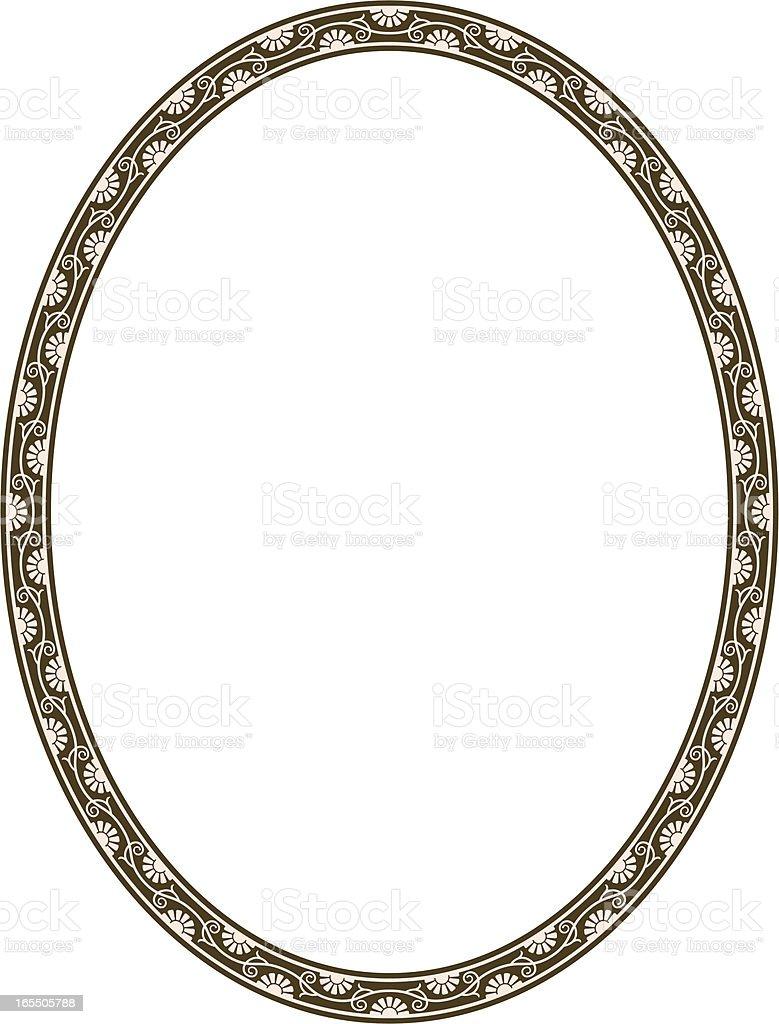 Oval Vine Frame royalty-free stock vector art