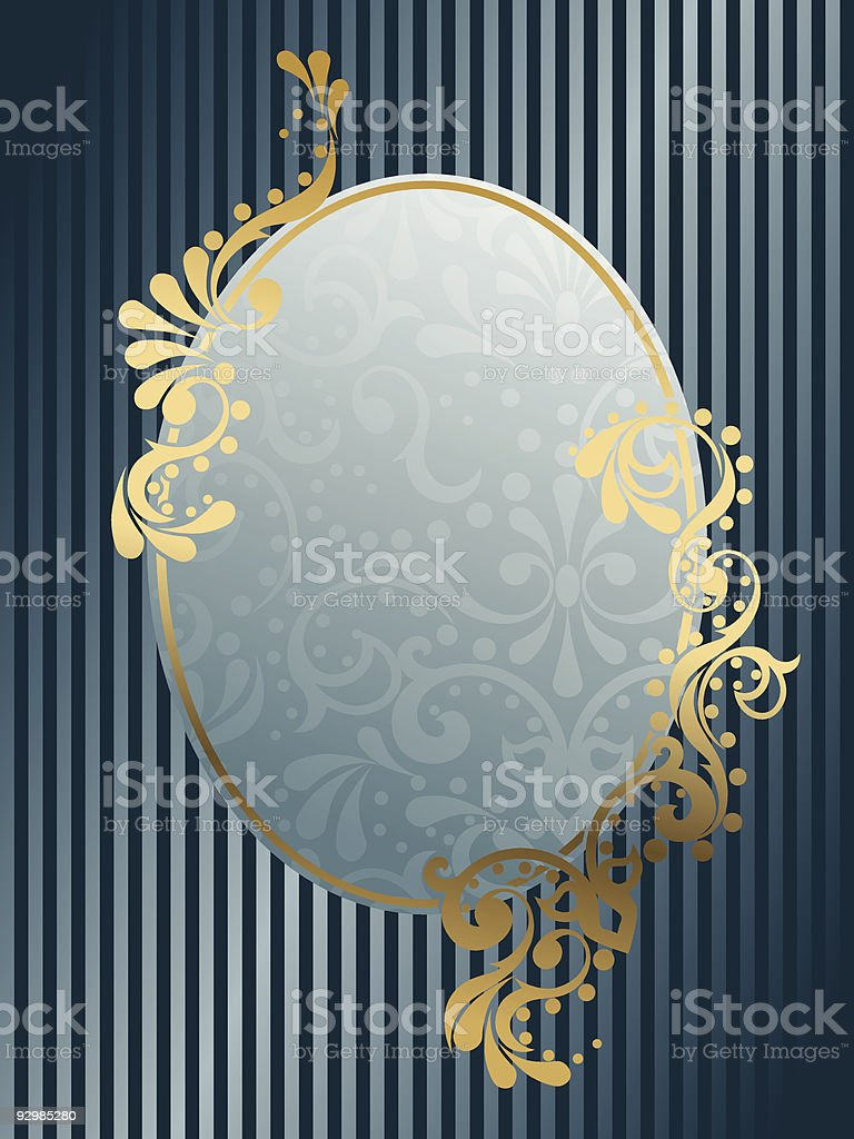 Oval vintage Victorian frame royalty-free stock vector art