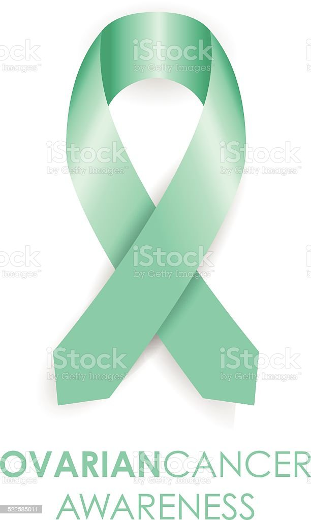 Ovarian cancer ribbon vector art illustration