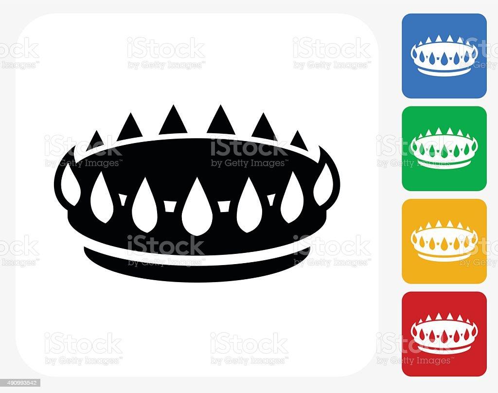 Oven Burner Icon Flat Graphic Design vector art illustration