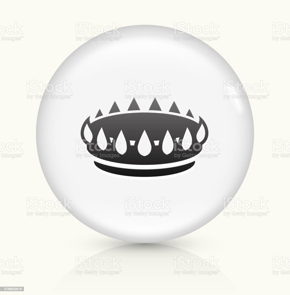 Oven Burner icon on white round vector button vector art illustration