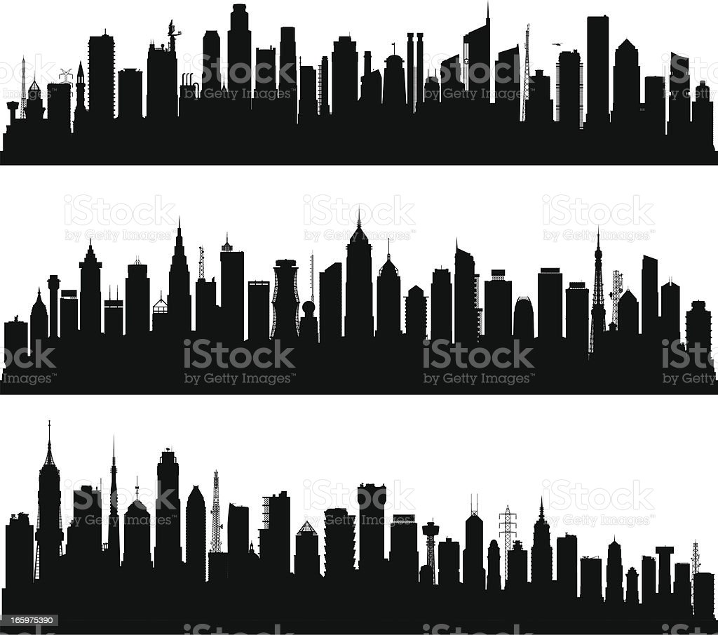 Over 100 Highly Detailed Buildings vector art illustration