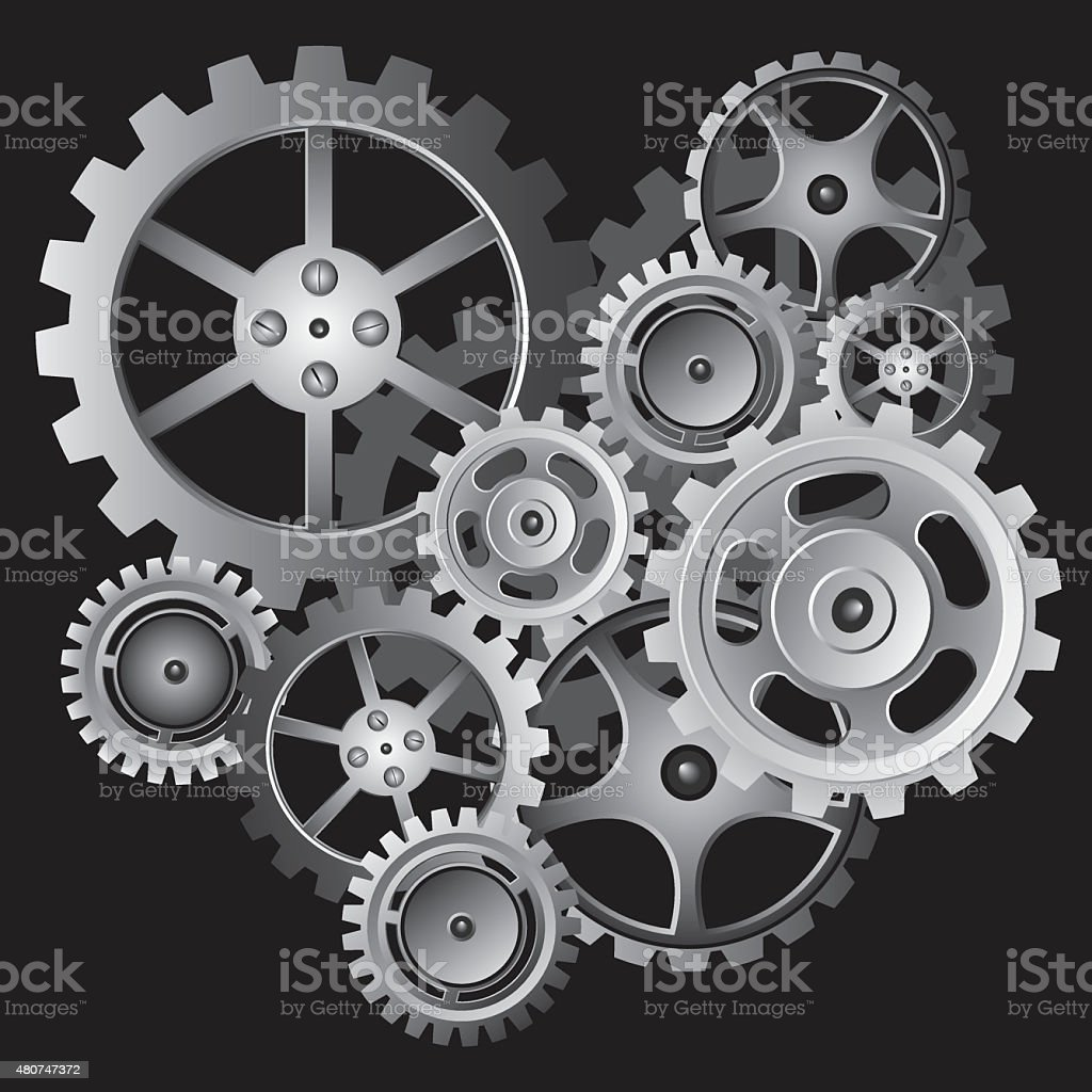 Over Gear Background vector art illustration