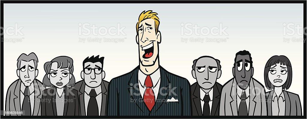 Overbearing Boss vector art illustration