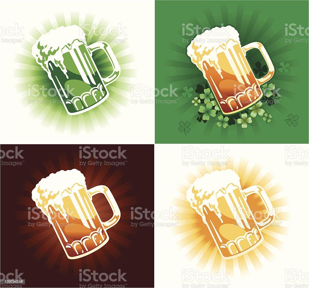 Overflowing Beer Mug royalty-free stock vector art