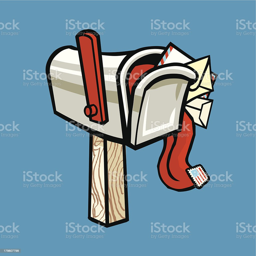 Overflowing Mailbox royalty-free stock vector art