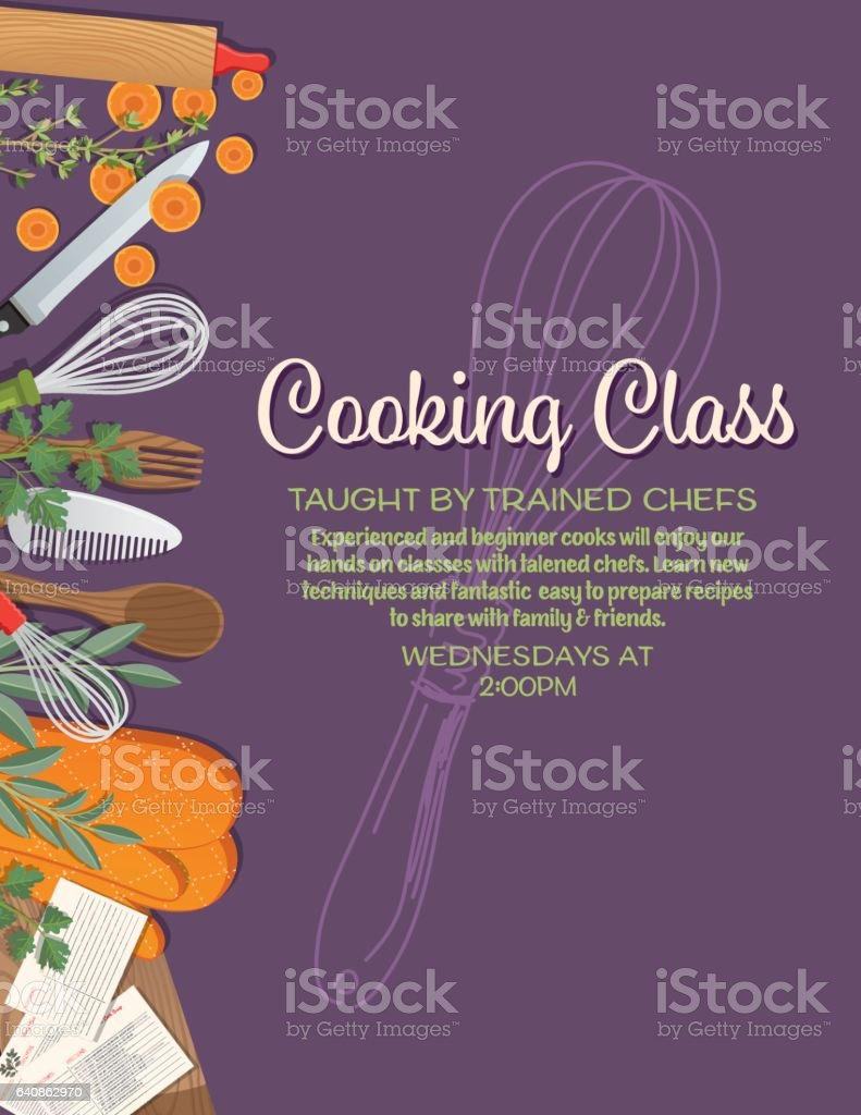 Overhead Angle Of Foods And Cooking vector art illustration