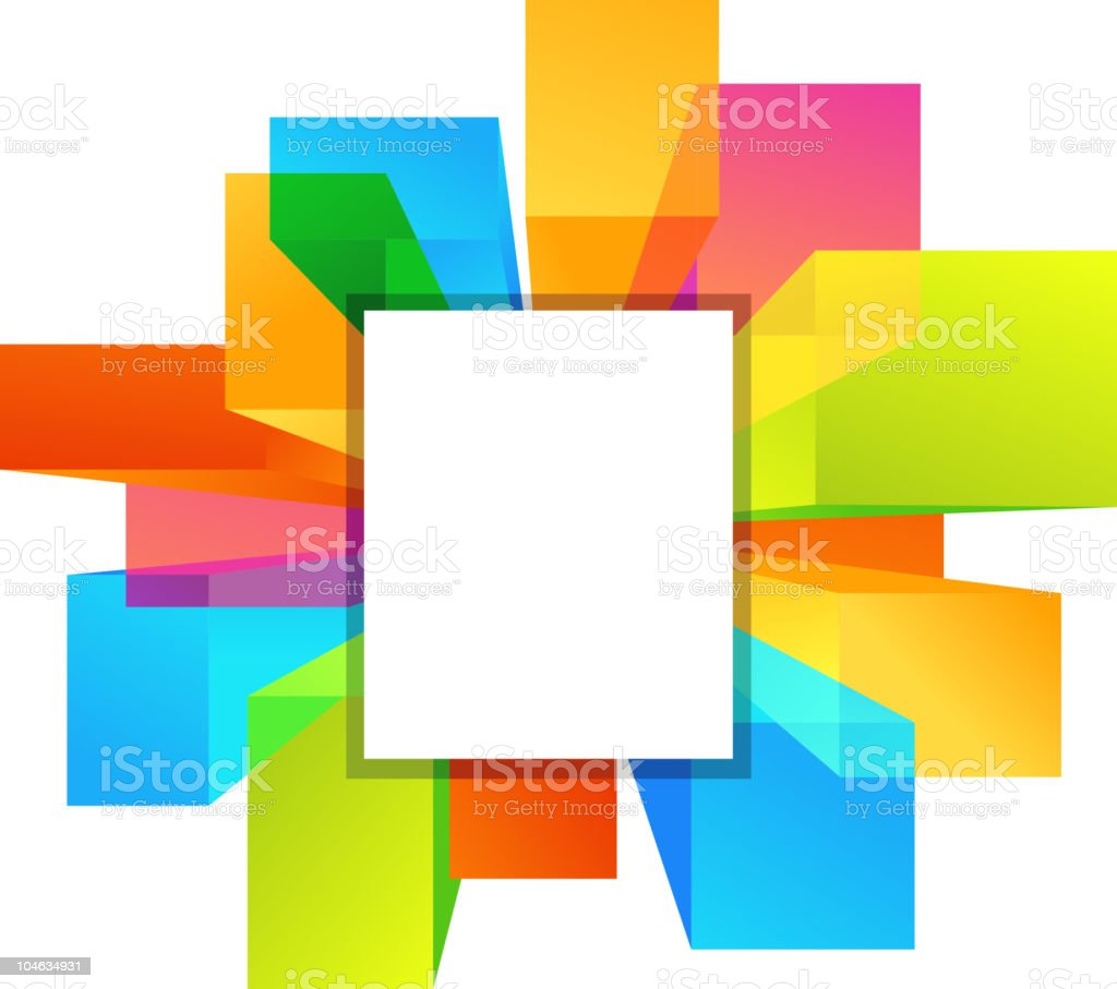 Overhead downtown view background with copy-space royalty-free stock vector art
