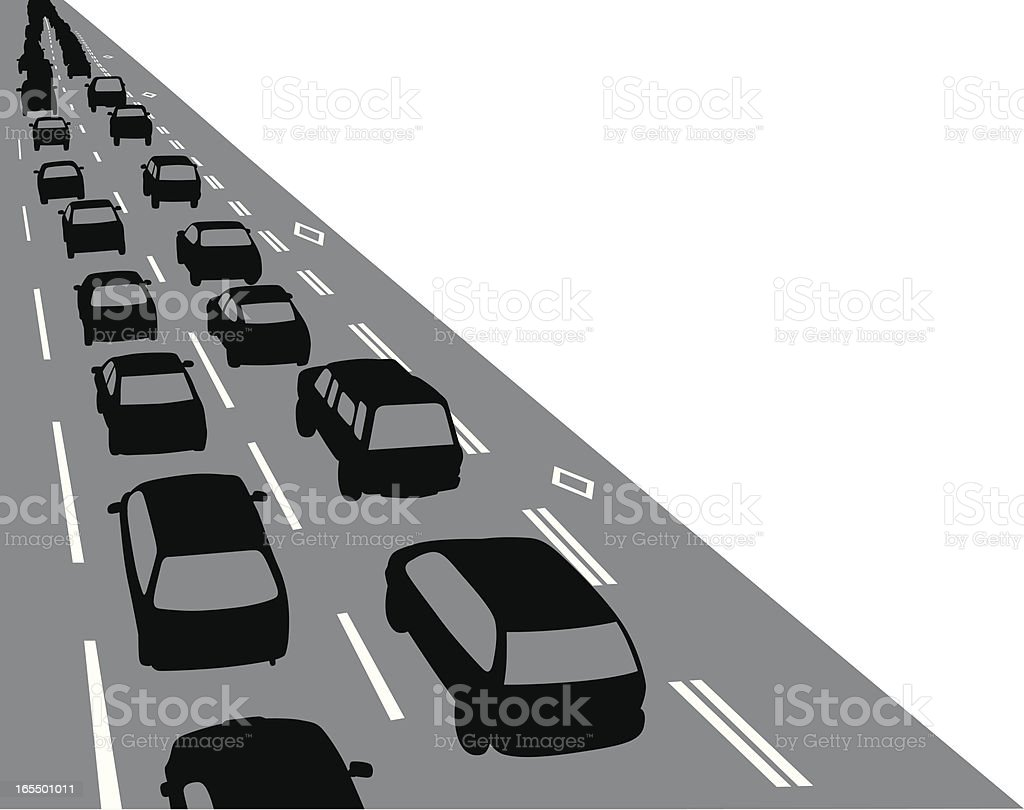 Overview Traffic Vector Silhouette vector art illustration