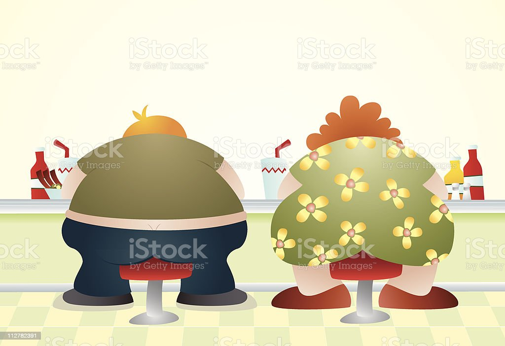 Overweight royalty-free stock vector art