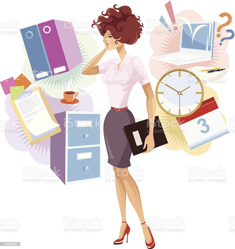 Overworked. royalty-free stock vector art