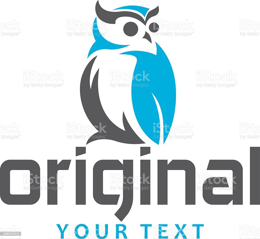 owl abstract stand vector art illustration