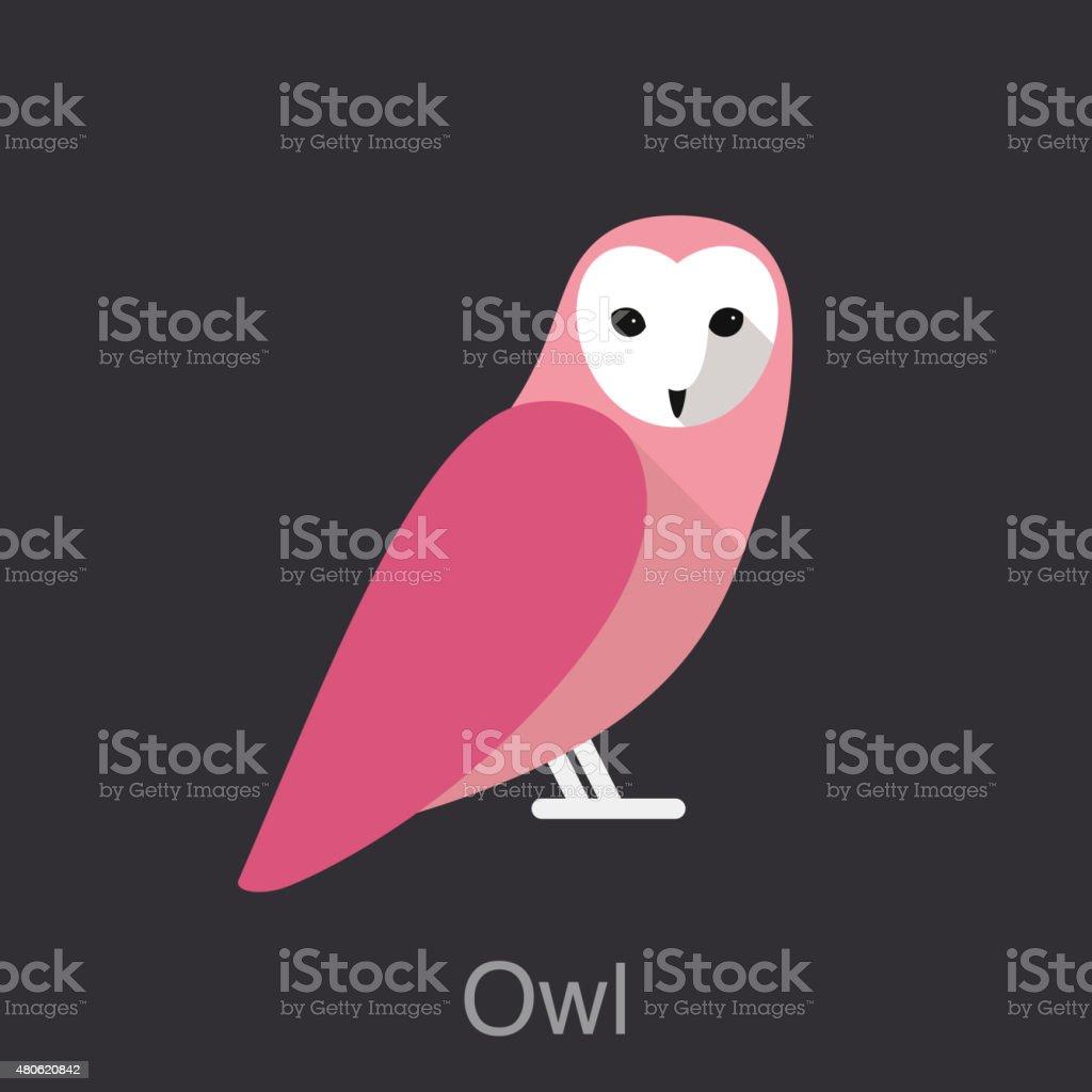 Owl, bird series vector art illustration