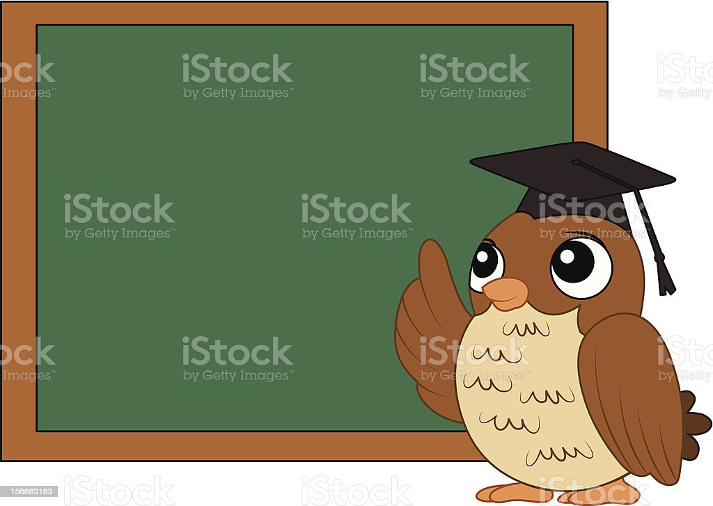 Owl For Education royalty-free stock photo