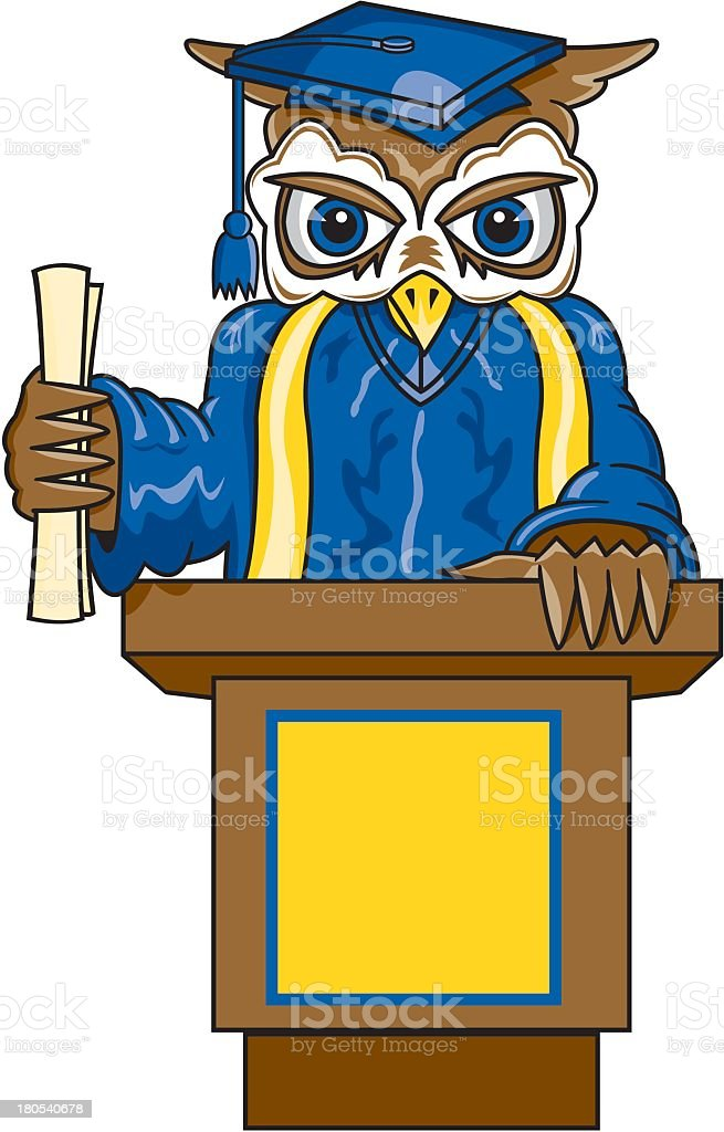 Owl Graduating royalty-free stock vector art